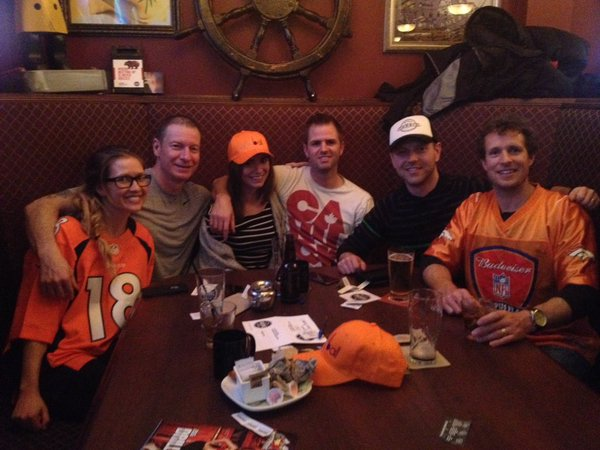 We assume this table was full of Oneball fans, and not just fans of the Broncos or the colour orange