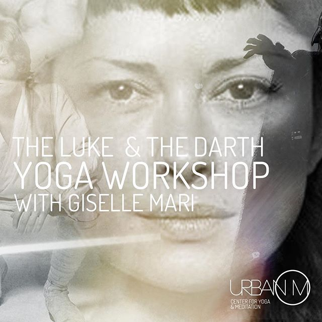 Do you ever use #theforce in your yoga practice? Join me to find out what it means to be in balance with your Luke&Darth @urbanom_inspiration Friday, May 3rd. A few spots remain. #theluke&thedarthofyoda #gisellemariyoga #starwarsismyjam #bringit #gritandgrace #spunkyandpunky