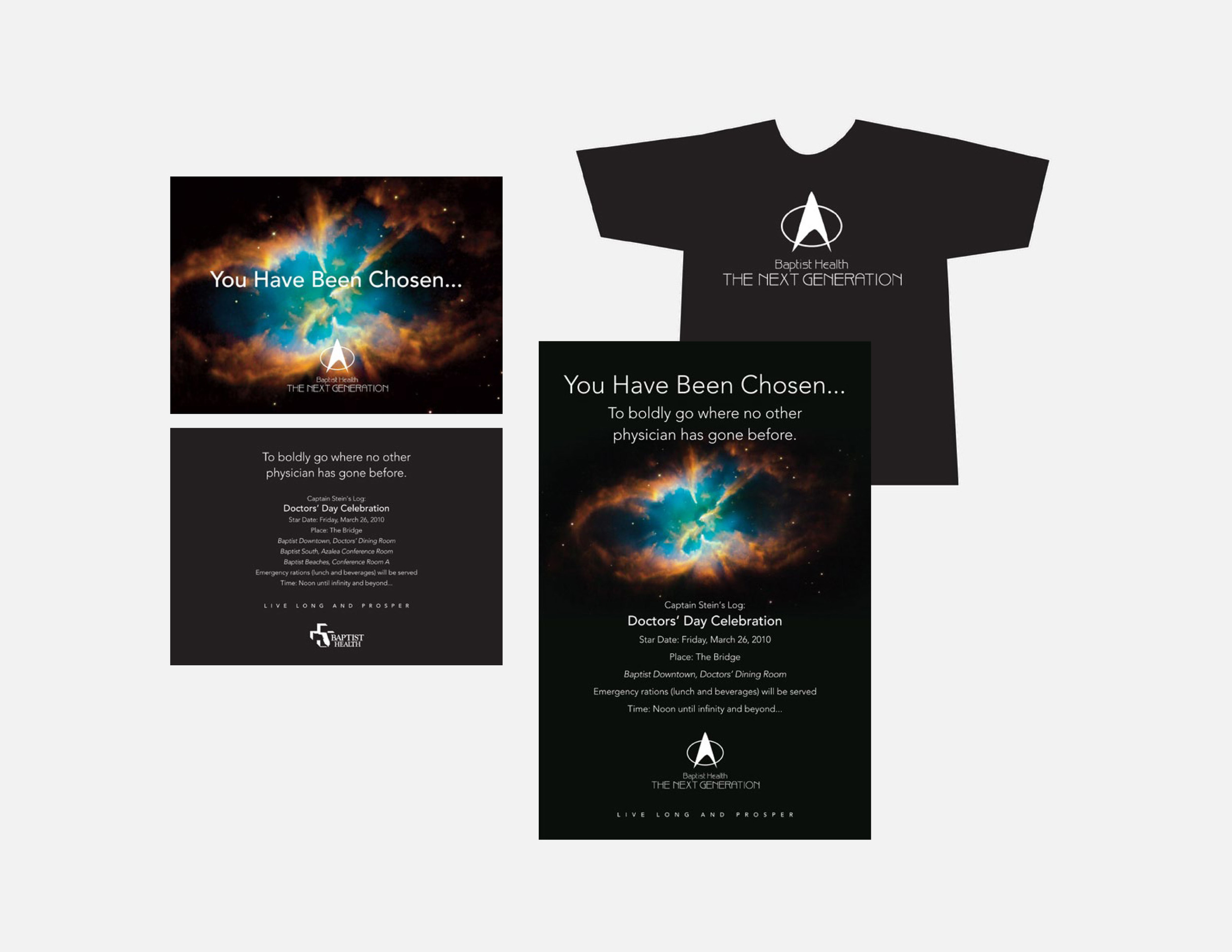 Star Trek Doctor's Day - Invitation, logo, t-shirt and posters