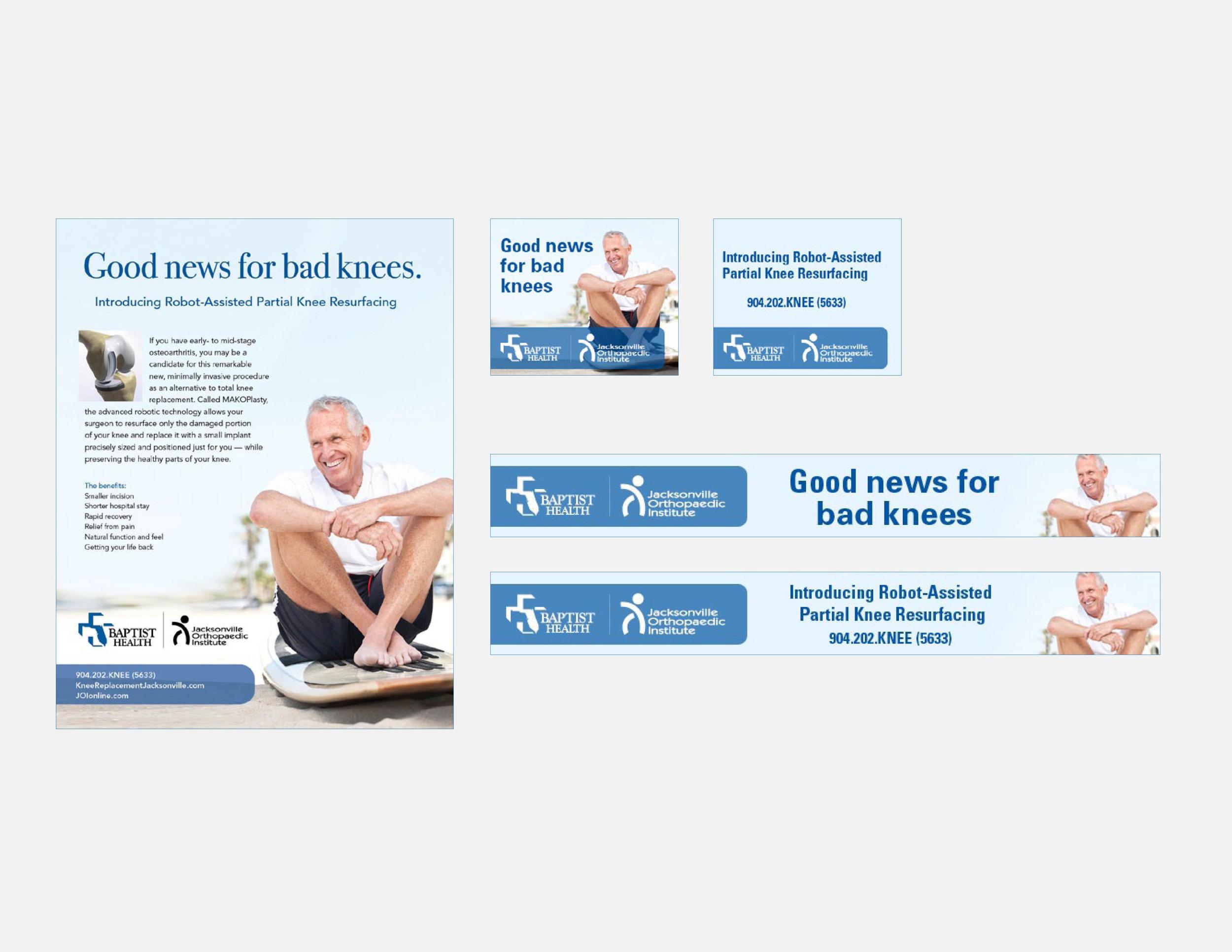 Baptist Health MAKOPlasty Campaign - Flyer & web ads
