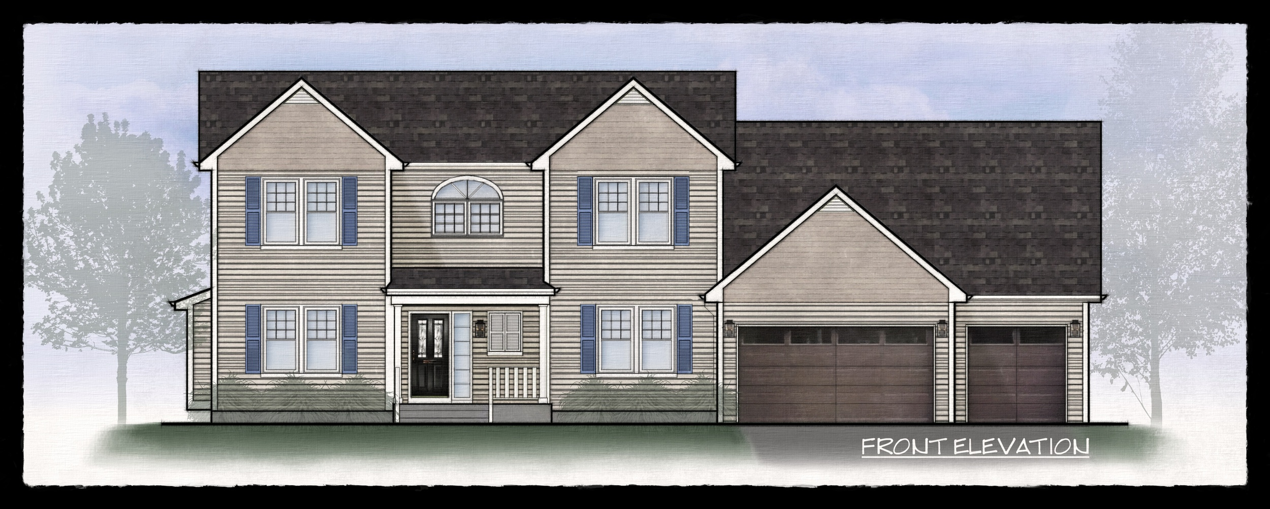 Architecture Elevation Rendering
