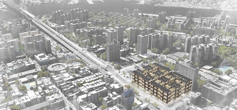 Site Aerial / Williamsburg Bridge, Lower East Side Manhattan