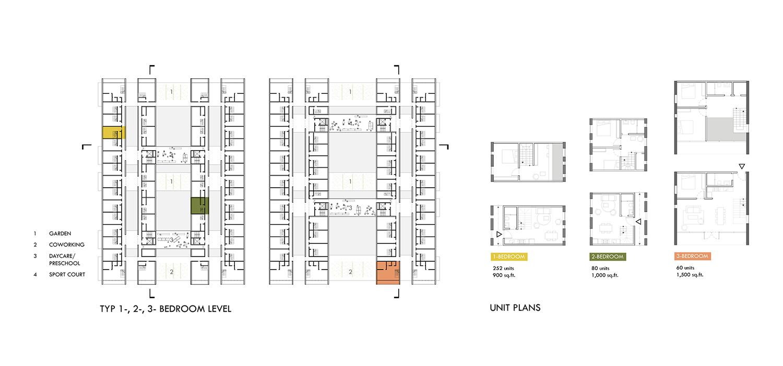 Unit Plans 01 / Multi-Bedroom Units