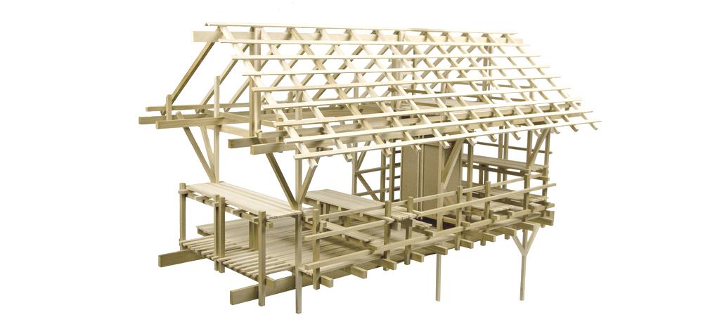 1/4 Scale Model  / Poplar and Hot Glue