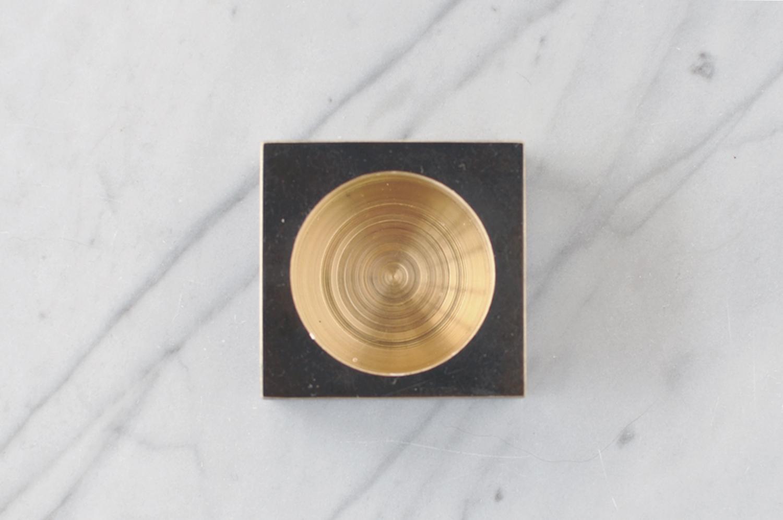 Photo 12/ Blackened Brass Tea Light Holder