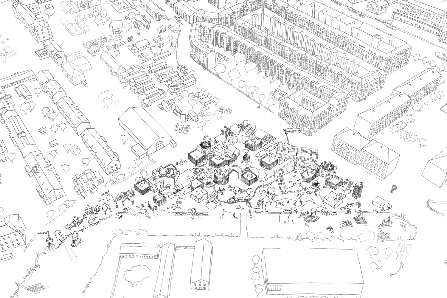 Kid's City Christianshavn, drawing by  COBE Architects