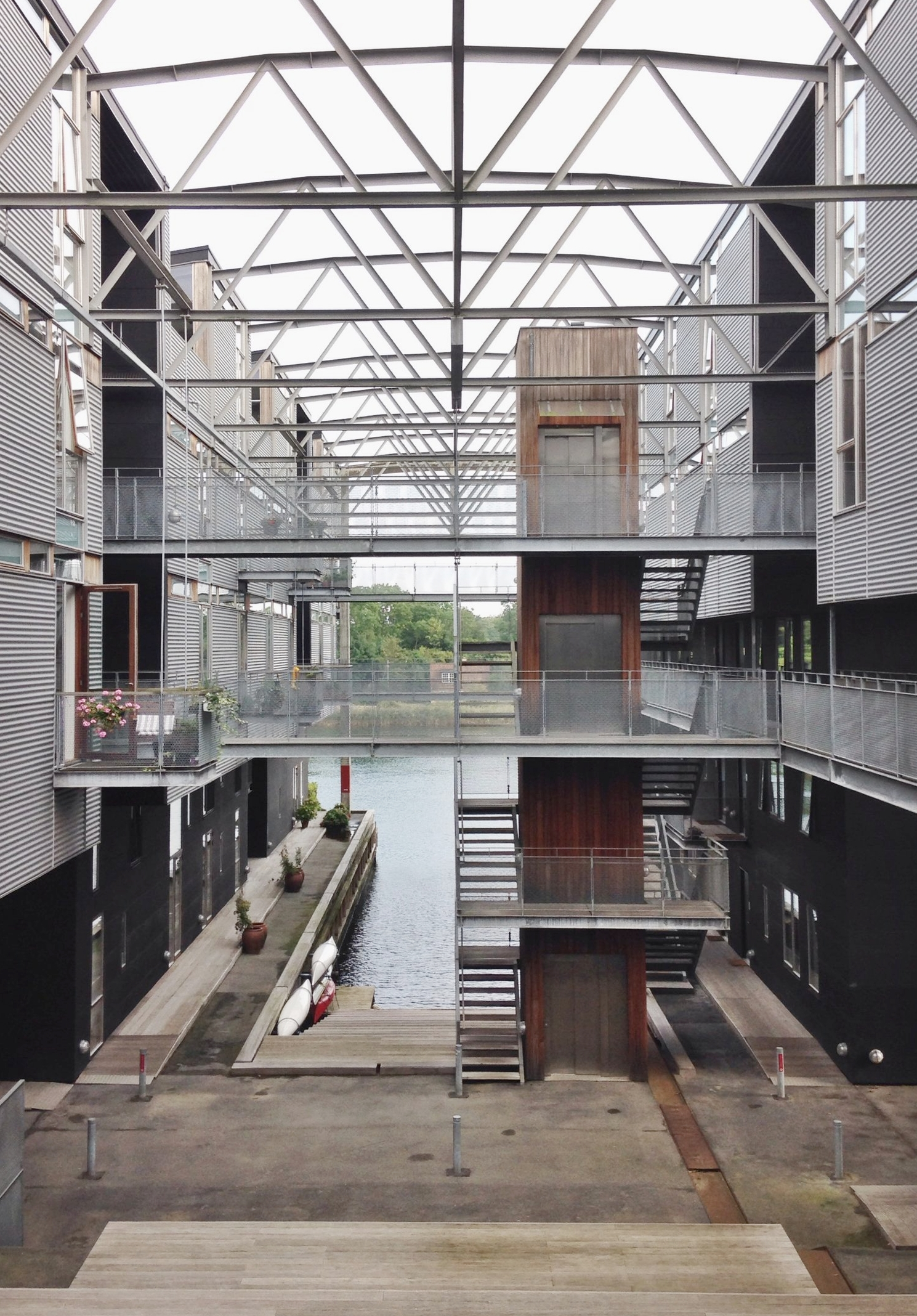 Torpedohallen courtyard, photo by author