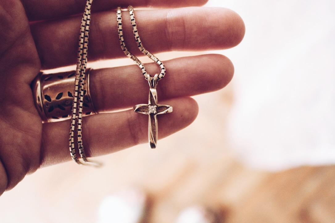 Grandma Joy's cross necklace.