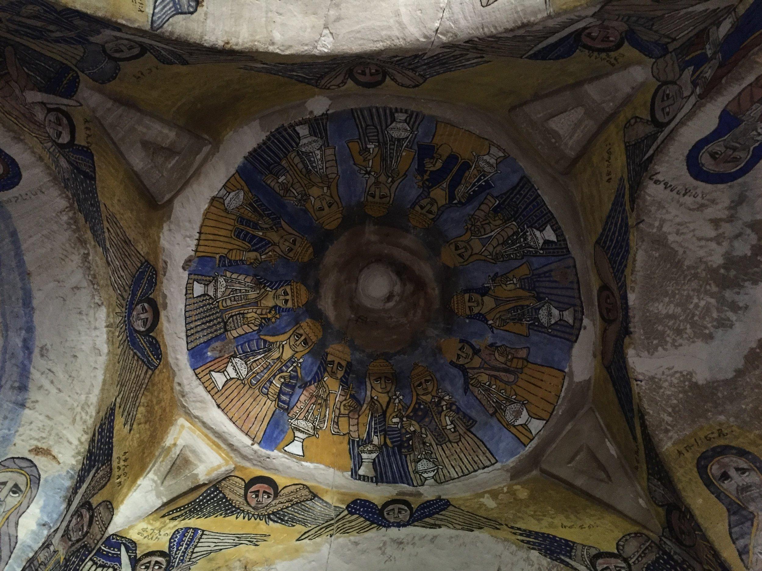 Inside-Abuna-gebre-mikael-rock-church