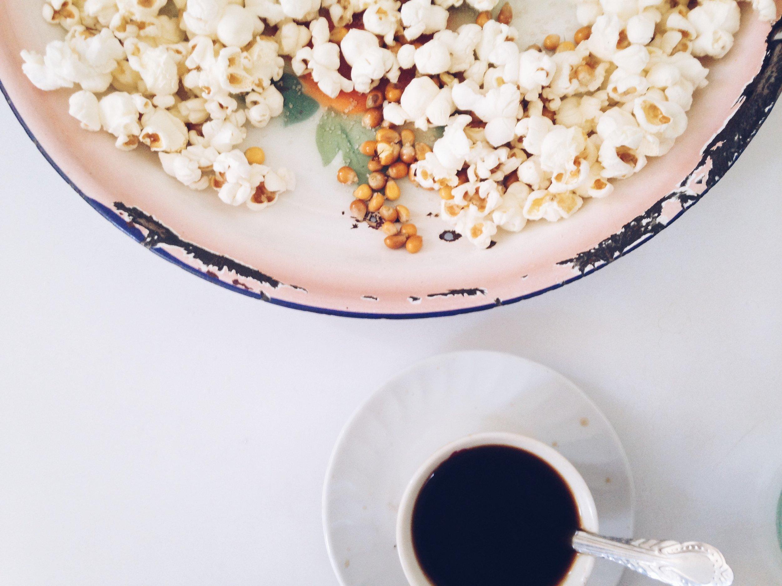 Ethiopia Coffee and Popcorn
