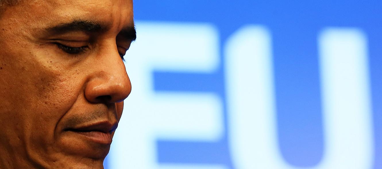 Le président américain Barack Obama lors du sommet USA-UE à Bruxelles. © Keystone / EPA / Julien Warnand / 26 mars 2014