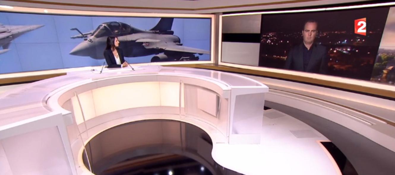 Capture d'écran du journal télévisé de  France 2  à 20 heures © DR