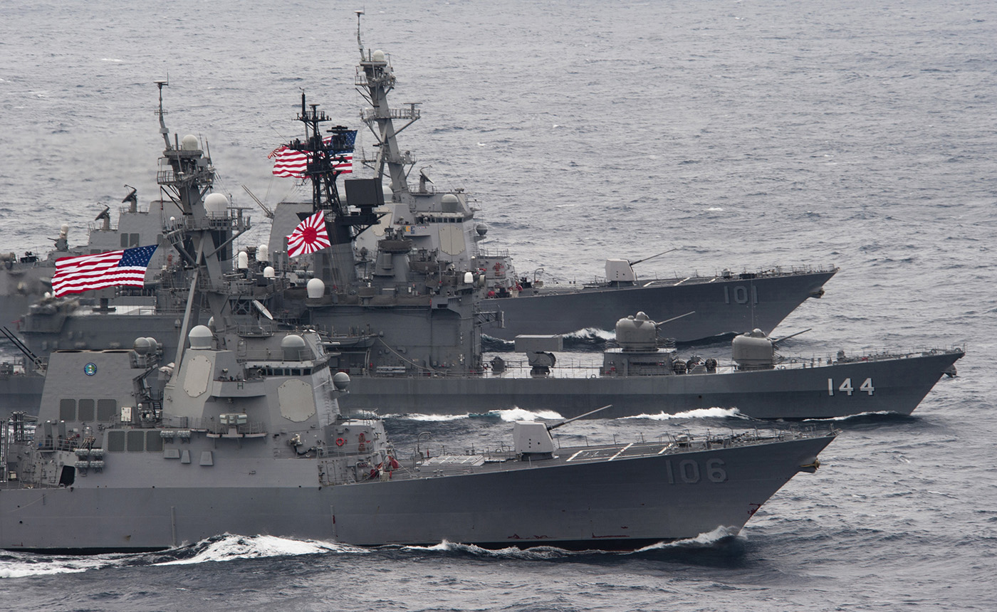 Cooperation on maritime security between Japan and US. © Official US Navy imagerie / 2016