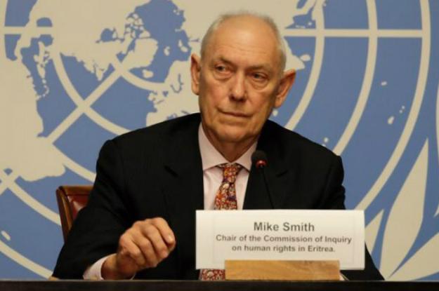 Mike Smith, président de la Commission d'enquête sur la situation des droits de l'homme en Érythrée . ©  Daniel Johnson / UNOG / 8 juin 2016