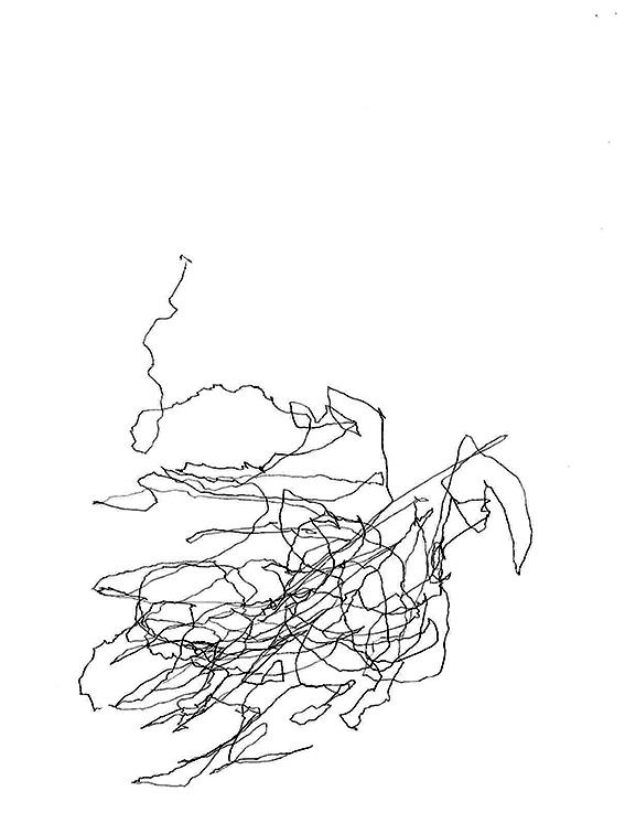 Lucie Schaeren, Itinéraire, stylo sur papier, 2016.