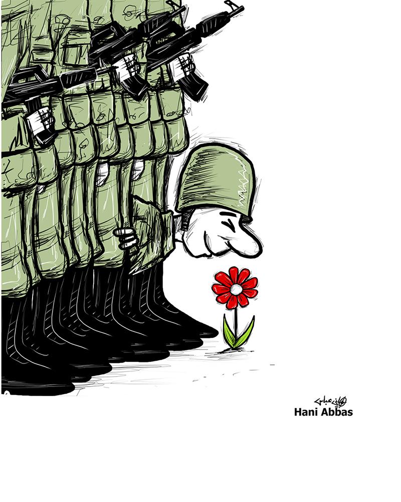 Le dessin qui a changé le destin de Hani Abbas. © Fondation Suisse Cartooning for Peace