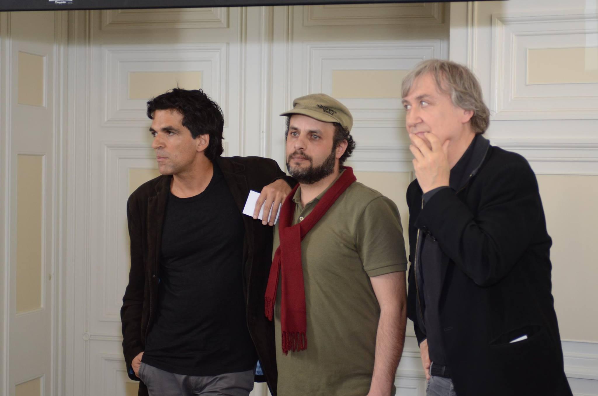 Chappatte, Hani Abbas et Plantu. © Fondation Suisse Cartooning for Peace