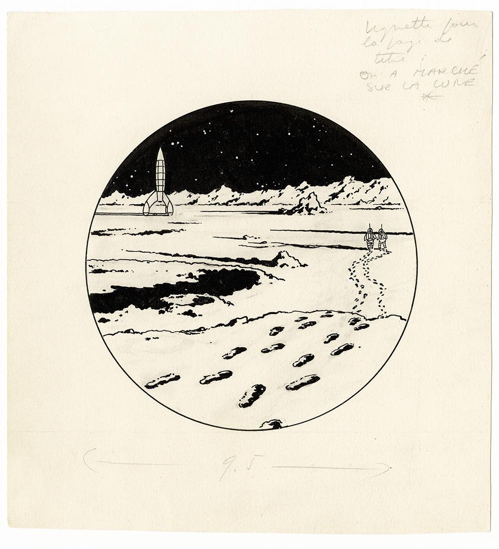 Les Aventures de Tintin. On a marché sur la Lune, 1954. © Hergé-Moulinsart 2016