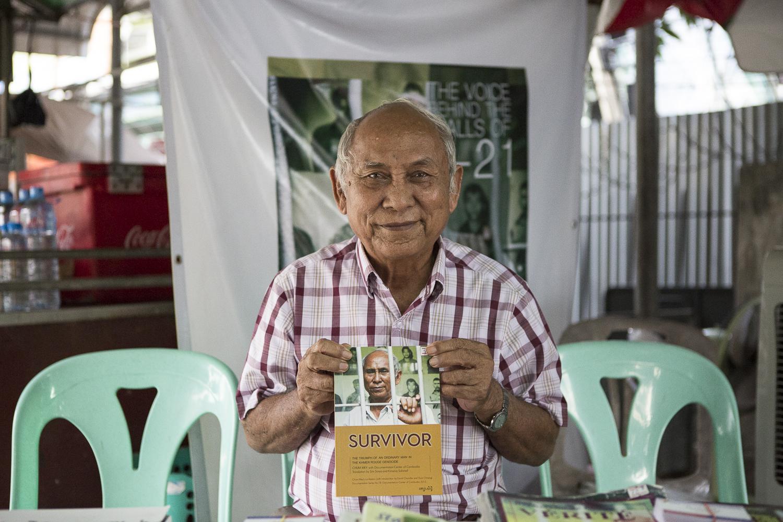Chum Mey, l'un des deux survivants de la prison S-21. © Alberto Campi / 1 janvier 2017