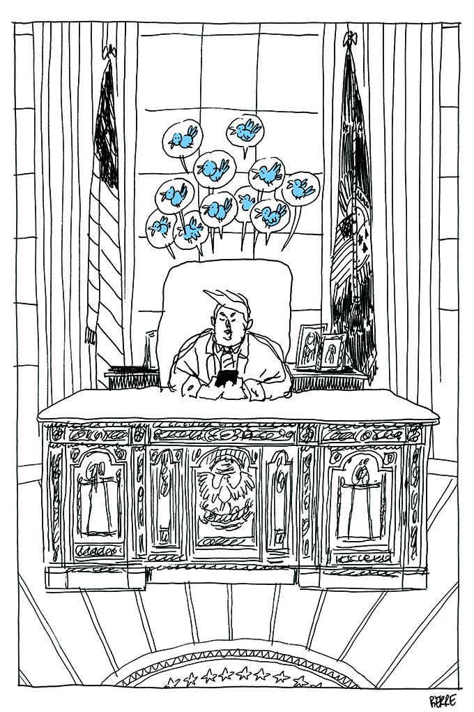 Le monde volatile de Donald Trump. © Pierre Dubois / Février 2017
