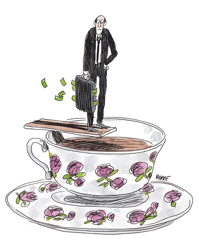 Brexit: la place financière suisse va-t-elle se noyer dans une tasse de thé? © Pierre Dubois / Septembre 2016