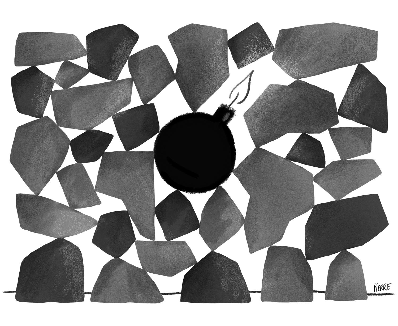 Équilibre fragile. © Pierre Dubois / Décembre 2015