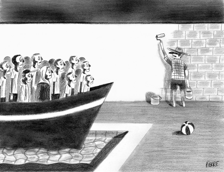 La tentation de dresser des murs en Europe. © Pierre Dubois / Été 2015