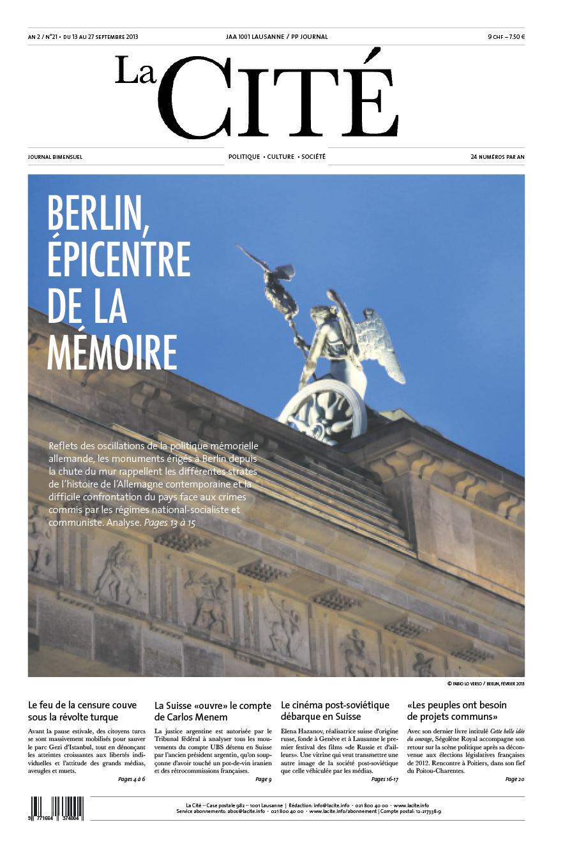 13 septembre 2013 - Édition n° 4524 pages