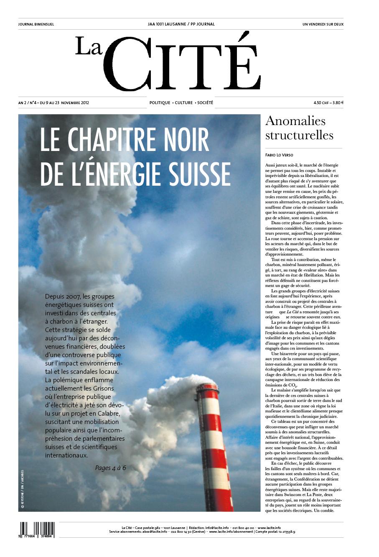 9 novembre 2012 - Édition n° 2824 pages