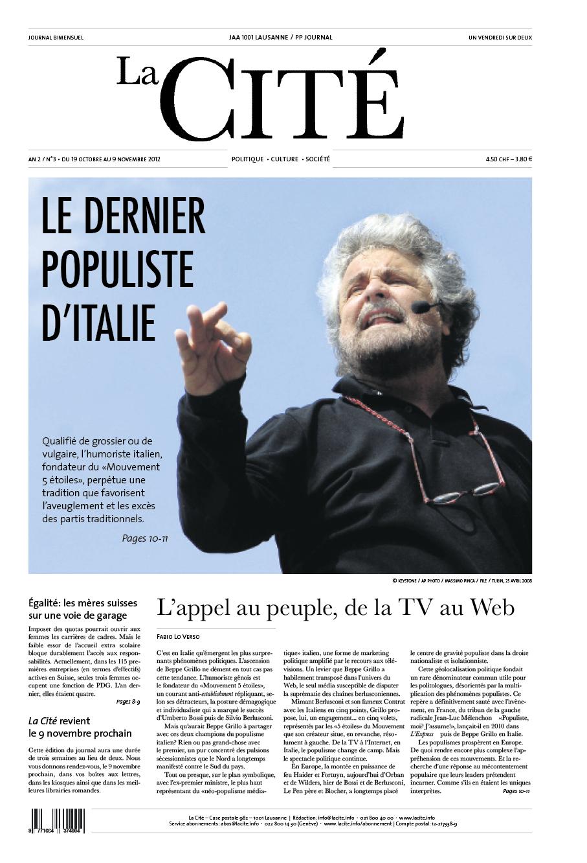 19 octobre 2012 - Édition n° 2724 pages