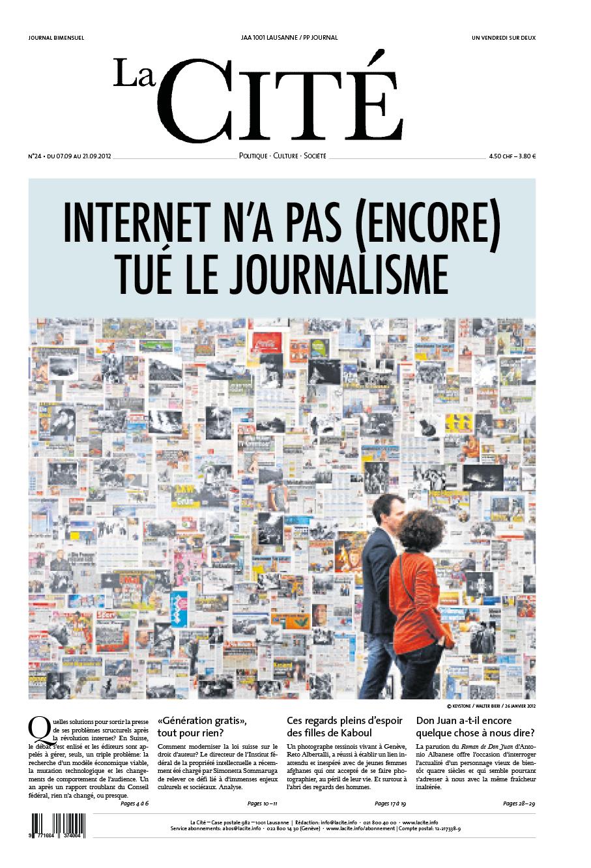 7 septembre 2012 - Édition n° 2432 pages