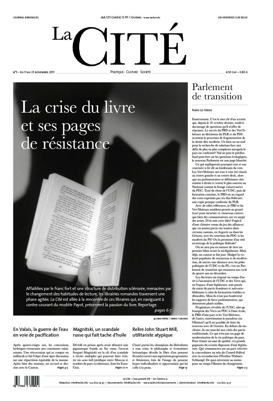 11 novembre 2011 - Édition n° 524 pages