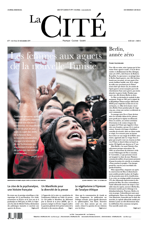 9 décembre 2011 - Édition n° 724 pages