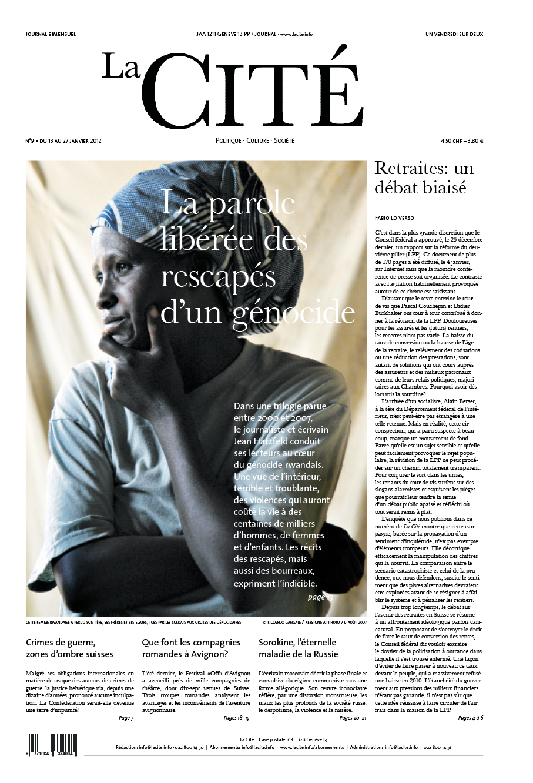 13 janvier 2012 - Édition n° 924 pages