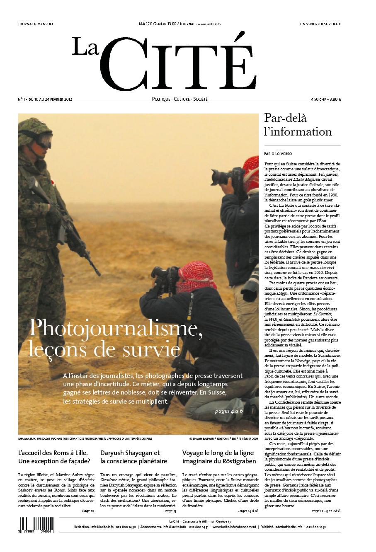 10 février 2012 - Édition n° 124 pages