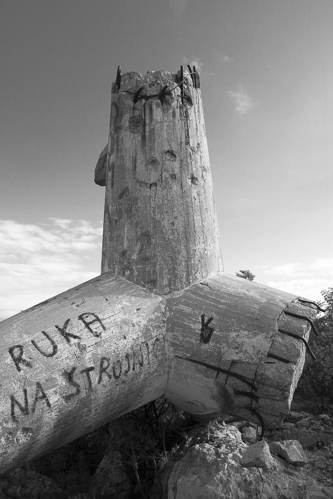 Monument à la mémoire des partisans de Split, fait exploser après 1990. © Alberto Campi / 28 mai 2014