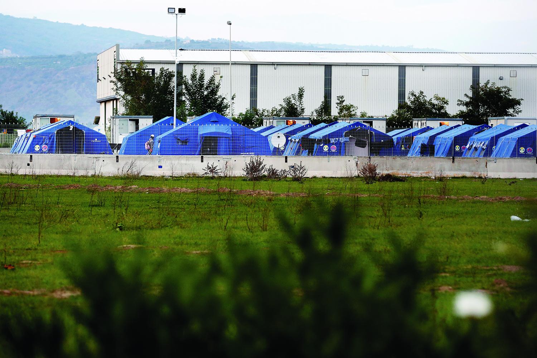 Le camp «officiel» de San Fernandino en Calabre. © Magali Girardin / Septembre 2017