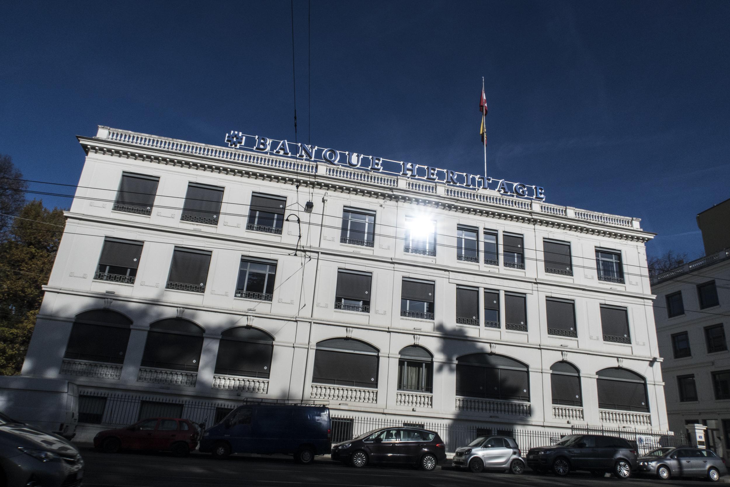 La banque Heritage à Genève. © Alberto Campi / 21 novembre 2017