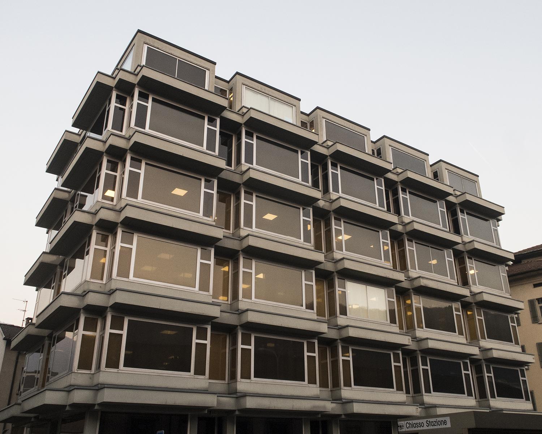 L'immeuble de Chiasso acquis avec l'argent de la mafia. © Alberto Campi / Archives