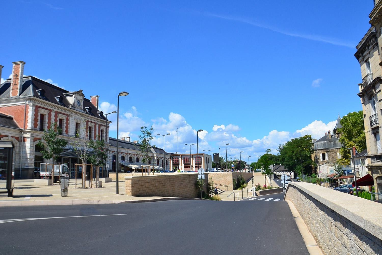 Centre ville de Brive la Gaillarde, sous-préfecture de la Corrèze, en région Nouvelle-Aquitaine. © DR