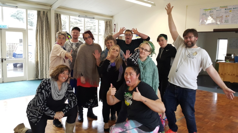 Thumbs Up Staff Development 2017. There is so much to enjoy in a silly photo.