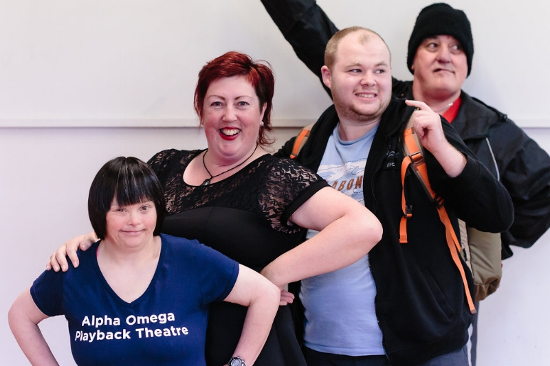 My gang are so cool. They photo bombed on our recent shoot for Alpha Omega Playback Theatre Company