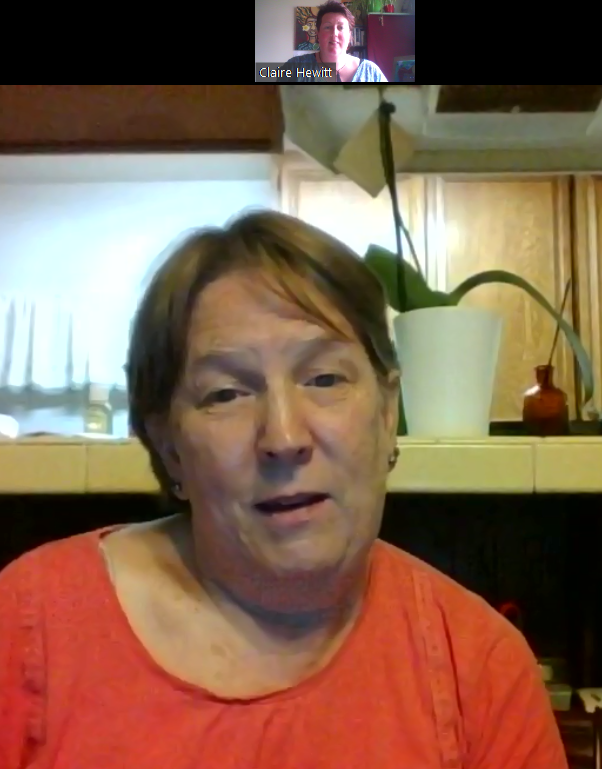 Chatting with Julie in San Diego via Zoom