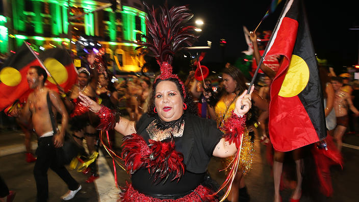 Australia's First Nations people represented in the Mardi Gras parade, 2016