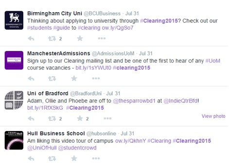 Example of #clearing2015 feed around 31st July