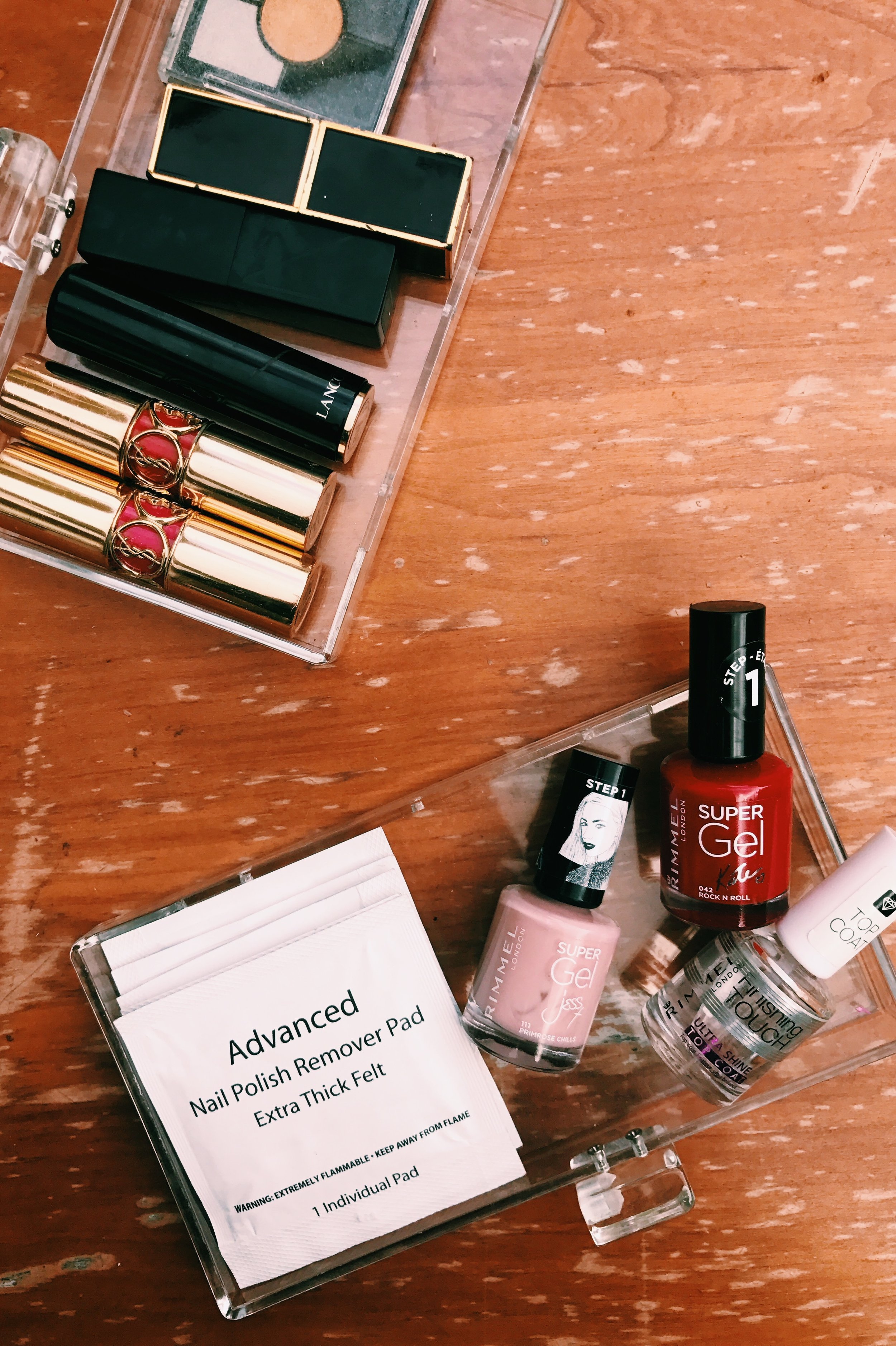 Nailed It.  - And you can, too, if you get Rimmel Super Gel Kate New Romantic or Rock And Sparkle {don't forget to get your Top Coat with it to get that Shellac look we all want!}Use Nail Polish Remover Pads for a fuzz-free removal