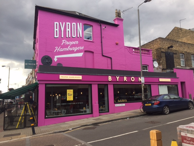 Byron Burgers - Neon Pink and Yummy Burgers, shall we say more?
