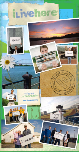 tri-cities iowa branding - community awareness