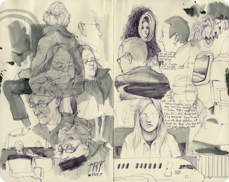 Unless specified, sketchbook assignments can be black and white or color.