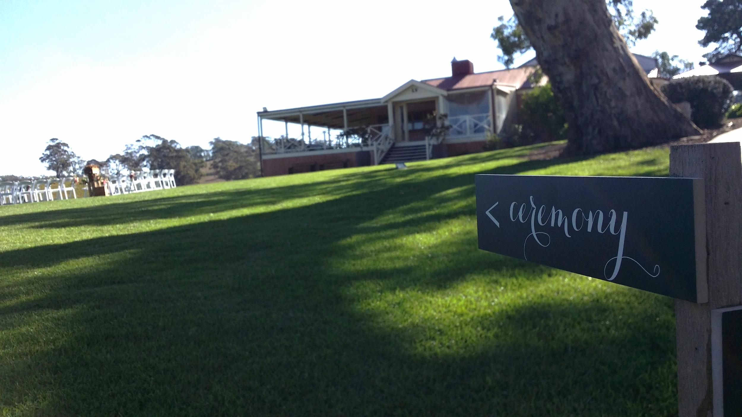 Longview vineyard wedding ceremony